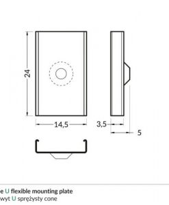 U_flexible_cone_mounting_plate_dimensions_500