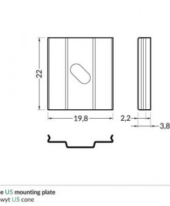 cone_U5_mounting_plate_dimensions_500