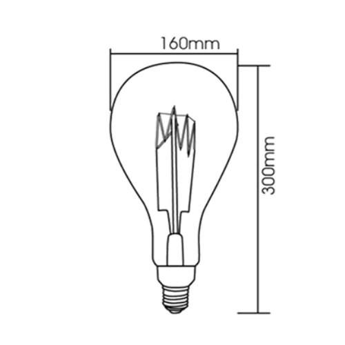 LED žarnica XXL Filament advance E27 6W 2200K