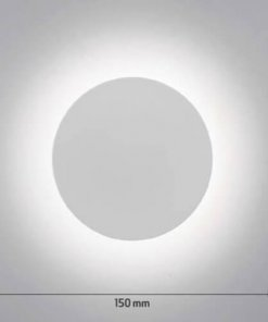 Stenska LED svetilka Circulo 8W 4200K, bela fi150