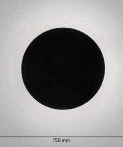 Stenska LED svetilka LAMBARIO Circulo 8W 4200K, črna fi150