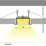 LED profil VARIO30-06/t