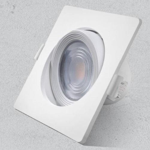 Downlighter kvadratni vgradni LAMBARIO 5W, 90x90mm, IP20, 4200K