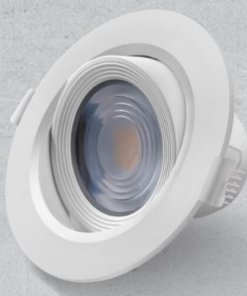 Downlighter okrogli vgradni 5W, fi90mm, IP20, 3000K