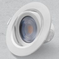 Downlighter okrogli vgradni 3W, fi75mm, IP20, 3000K