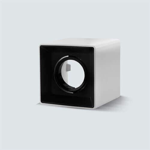 Kvadratno nadgradno nastavljivo ohišje za žarnico GU10 in MR16, IP20, bela/črna
