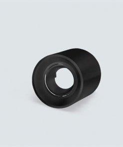 Okroglo nadgradno nastavljivo ohišje za žarnico GU10 in MR16, IP20, črna
