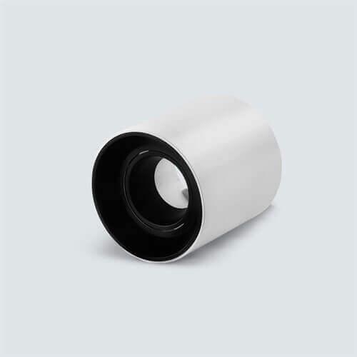 Okroglo nadgradno nastavljivo ohišje za žarnico GU10 in MR16, IP20, belo/črna