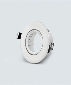 Vgradno okroglo nastavljivo ohišje za žarnico GU10/MR16, bela
