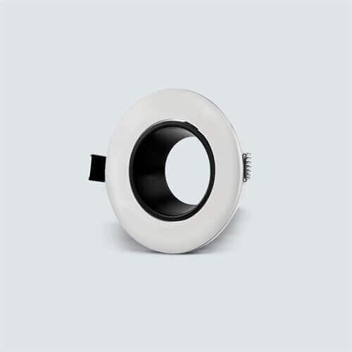 Vgradno okroglo nastavljivo ohišje za žarnico GU10/MR16, belo/črna